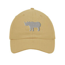 Rhino Embroidered SOFT Unstructured Adjustable Hat Cap