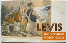 LEVIS The Individual Motor-cycle Range Motorcycle Sales Brochure 1938