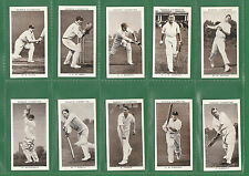 OGDENS LTD. - RARE  SET  OF  50  PROMINENT  CRICKETERS  OF  1938  CARDS  -  1938