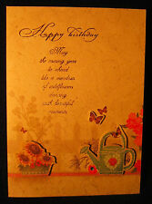 Hand-crafted, jeweled birthday cards - set of 3, free shipping