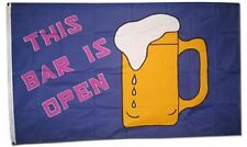 3x5 Advertising This Bar is Open Drinking Beer Flag 3' x 5' House Banner