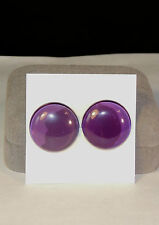 Amethyst Cabochons pair of 20mm rounds 6.5-7mm from Brazil (4341a)