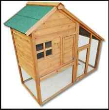 NEW 2 Story Rabbit Hutch Bunny House Henhouse Cage Pen Large Run Rabbits Hutches