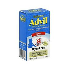 INFANTS ADVIL IBUPROFEN 50MG Dye-Free white grape 1/2 fl oz