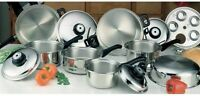 NIB*17PC T-304 SURGICAL STAINLESS STEEL HEALTHY WATERLESS COOKWARE SET!
