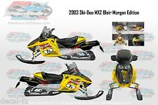 2003 Ski-Doo Blair Morgan 800 Rev 7c Graphics Reproduction 26 Piece Vinyl Decals