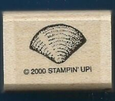 SCALLOP SHELL half clam Design Sea Life Stampin' Up! Wood Mount RUBBER STAMP