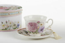 Delton Porcelain Tea Cup & Saucer Gift Set  ROSE