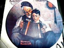 """Norman Rockwell plate-""""The Music Maker""""-original box with Cert of Authenticity"""
