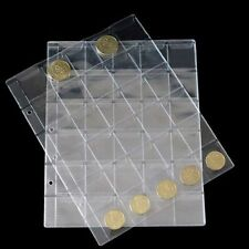 10 Pages 30 Pockets Classic Coin Holders Sheets for Storage Collection Album