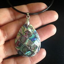 Necklace Pendant Abalone Shell Hippie Bohemian Surf Ethnic Boho Tribal Gypsy