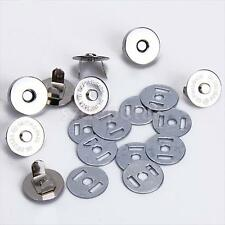 10 Sets 18mm Magnetic Snaps Bag Clasp Metal Button Fastener Sewing Craft DIY