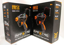 2x (Pair) HEX3 App Tag AppTag Laser Gun for iPhone & Android Real Life Shooting