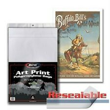 """1 Pack of 100 BCW Art Print 11 x 17"""" Photo Bags - Resealable"""