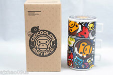 New A BATHING APE Baby Milo x Chocoolate Space Milo Cup Set (3Pc) 100%AUTH RARE