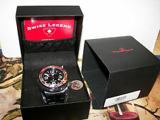 Swiss Legend Men's 21819P-BB-11-SB Neptune Force Black Ion-PlATED. SWISS.. NEW