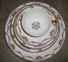Limoges France Theodore Haviland Flora  85 PC Dinnerware Set Estate Circa