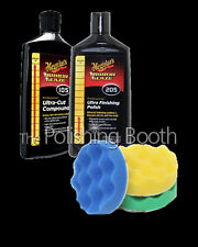 Meguiars M10508  Compound & M20508 Finishing Polish, 16OZ 3M 75mm Pad Kit