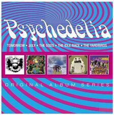 PSYCHEDELIA 5CD NEW Tomorrow/July/The Gods Genesis/Idle Race Birthday/Yardbirds