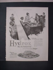 1925 Hydrox by Sunshine Cream Filled Chocolate Wafer Food Vintage Print Ad 253