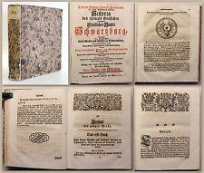Heydenreich: Historia [..] des Hauses Schwartzburg 1743 Geschichte Thüringen -xz