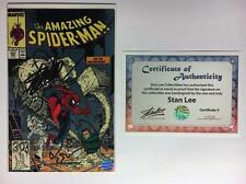 AMAZING SPIDER-MAN #303 SIGNED STAN LEE W/COA MCFARLANE SANDMAN SILVER SABLE APP