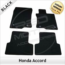 Honda Accord Mk8 2008-2015 Tailored LUXURY 1300g Carpet Car Floor Mats BLACK