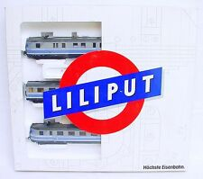 "Liliput HO 1:87 VT 06 DB ""TAUBENBLAU"" 1950 DIESEL MULTIPLE UNIT SET MIB RARE!"