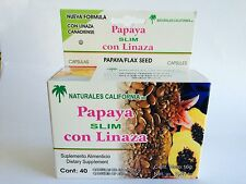 Papaya & Flaxseed blend 40 Capsules/ Papaya con Linaza 40 Capsulas