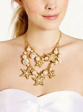 Kate Spade Coral Reef Double Row Bib Necklace VACATION STARFISH CRUISE SEA SHELL