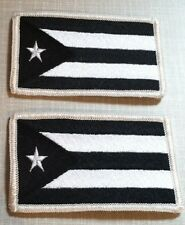Puerto Rico 2 Tactical Flag Iron-On Patch Black & White MC Biker ARMY Emblem