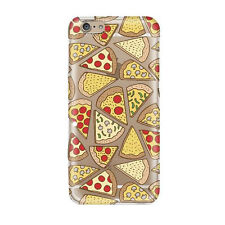 Fashion Donuts Pizza Pattern Transparent TPU Case for iPhone 5S 5C 6S 7 7 PLUS