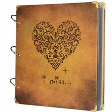 Scrapbook Vintage Photo Album 27X26 Cm Heart Printed Surface