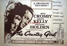 The COUNTRY GIRL Original 1955 Film Advert - Bing Crosby & Grace Kelly Movie Ad