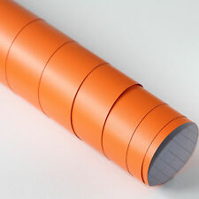 3x DIN A4 Wrapping Folie Matt Orange 21cm x 29,7cm Autofolie mit Luftkanälen