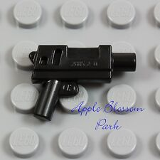 NEW Lego Minifig Black SUBMACHINE GUN - Short Machine Gun Police Gangster Weapon