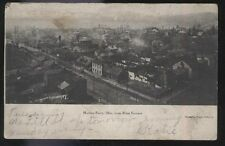 Postcard MARTINS FERRY Ohio/OH  Town Bird's Eye Aerial view 1906