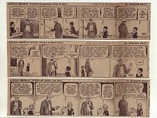 Little Orphan Annie by Gray - 14 large 5 column daily comic strips - Nov. 1942