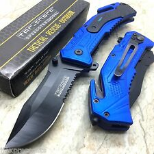 TAC-FORCE Blue Navy Inscription Folding  Tactical Survival Pocket Knife TF-688NV