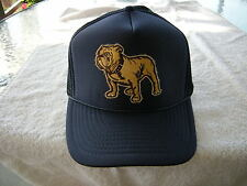 MACK TRUCKS BULL DOG HAT, EMBROIDERY PATCH ADJUSTABLE SNAP SIZING, NAVY BLUE