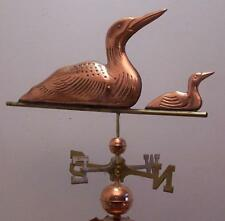 Beautiful copper loons swimming weathervane, COMPLETE SETUP + mount,FAST SHIPING