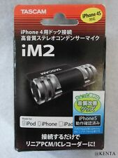 TASCAM stereo condenser Microphone For iPhone/iPad/iPod Touch iM2-B F/S epacket