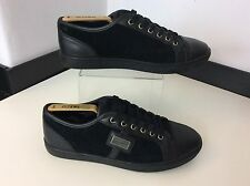 Dolce & Gabbana D&G Men's Leather Shoes, Uk 6, Eu40 Black Suede Leather Vgc