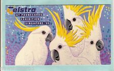 SCARCE TELSTRA PHONECARD PACK - 1995 SINGAPORE EXHIBITION, COCKATOO