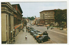 Main Street Cars Malone New York 1950s postcard