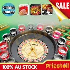 Shot Drinking Roulette Set Wine Game with Casino Spin Shot Glass Party Bar Game