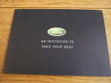 LAND ROVER EXPERIENCE  BROCHURE  jm