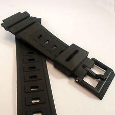 Cinturino Orologio Per Casio G-SHOCK dw5600c 5700 5800 NERO IN GOMMA Resina di ricambio