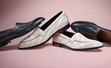 """NIB Paul Smith """"Watts"""" Black And White Calf Leather Loafers Shoes Sz 40 EU Italy"""