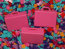 Lego friends PINK SUITCASE x3 + accessories x50 butterfly flower purple barbie